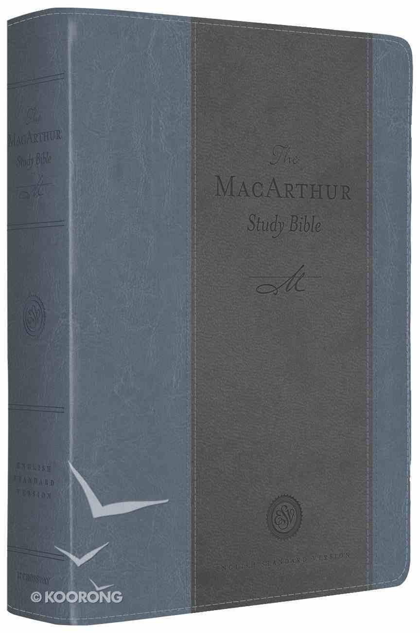 ESV Macarthur Study Bible Blue/Charcoal Imitation Leather