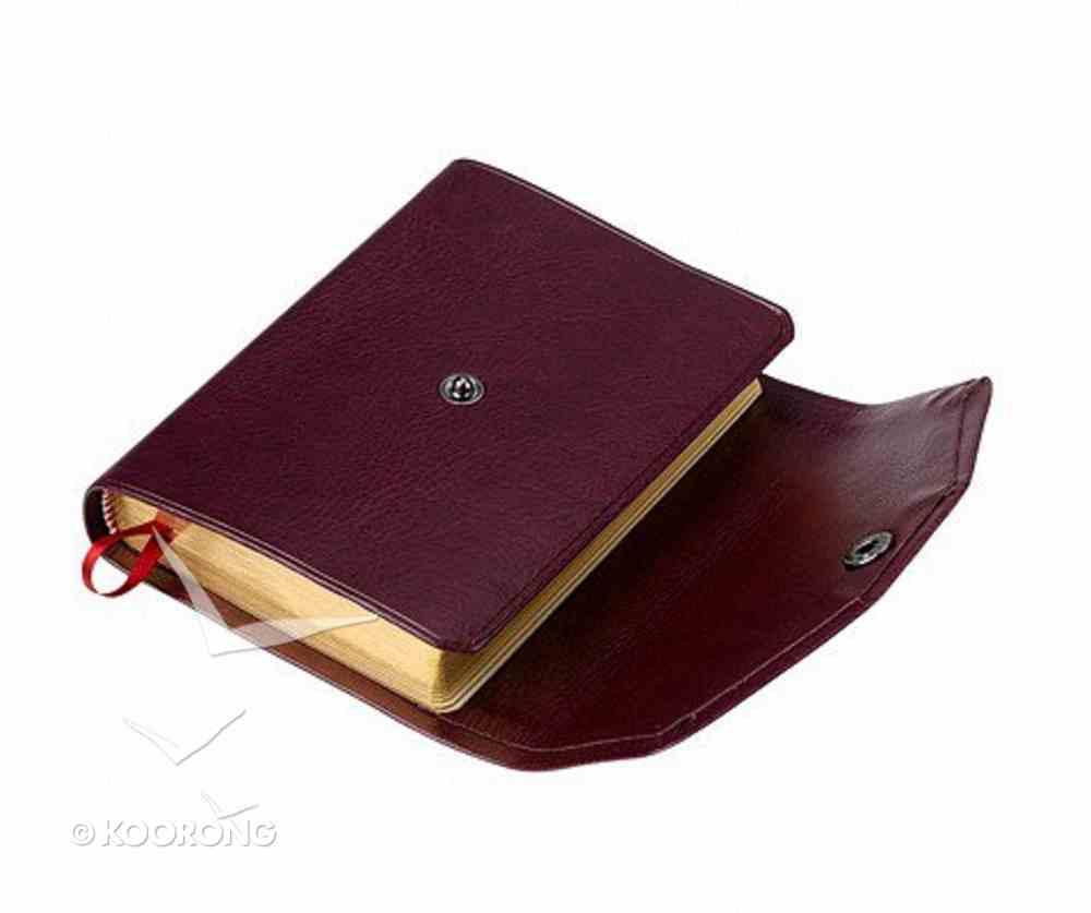 KJV Pocket Reference Burgundy With Snap Flap (Red Letter Edition) Imitation Leather