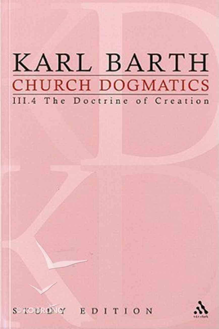 The Command of God the Creator II (Church Dogmatics Study Edition Series) Paperback