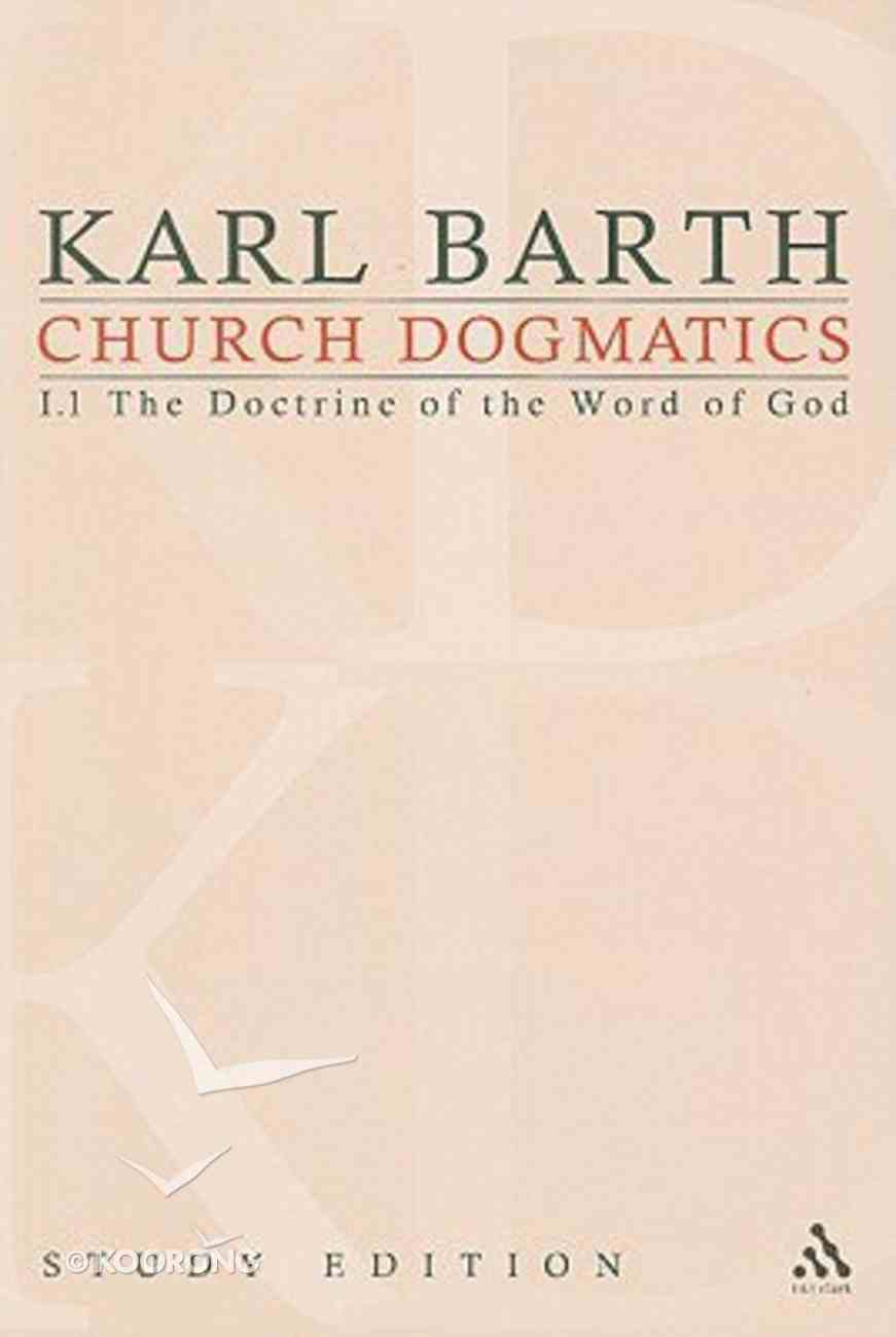 The Revelation of God; the Triune God (Church Dogmatics Study Edition Series) Paperback