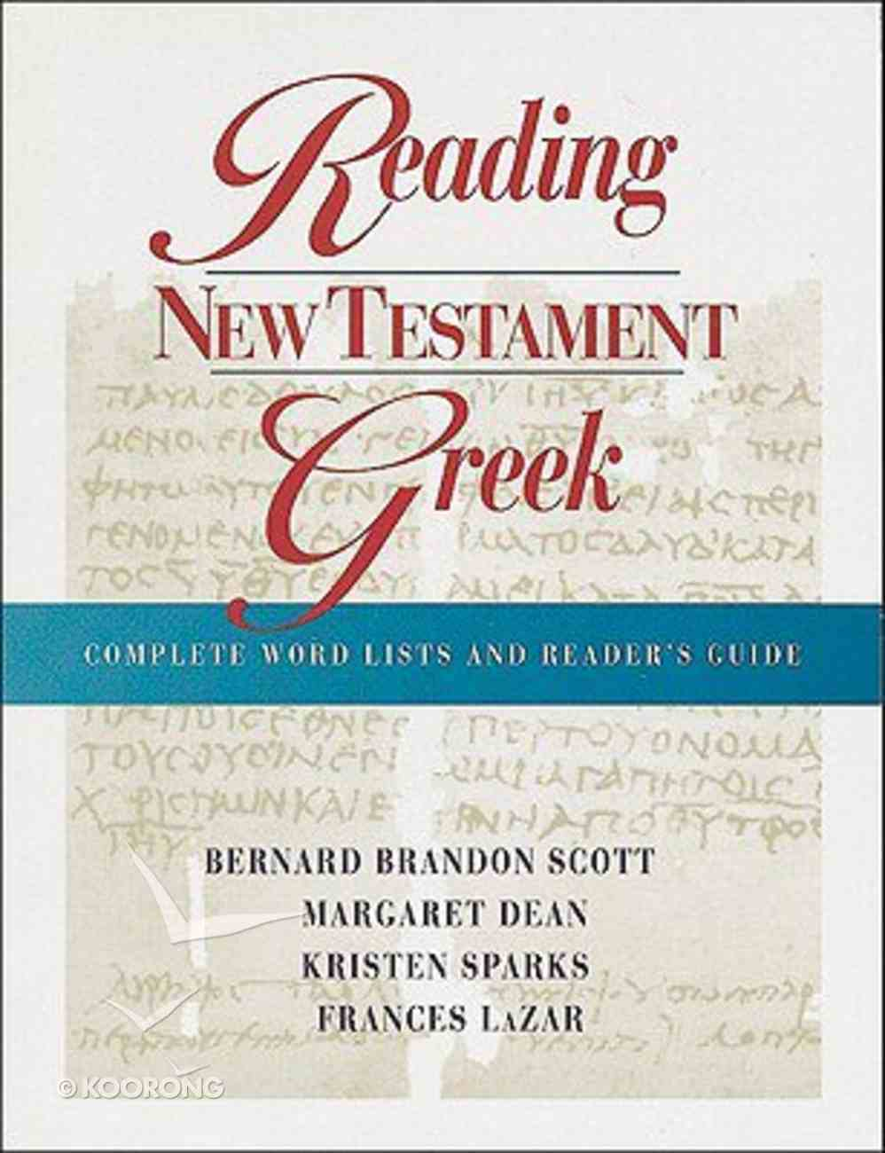 Reading New Testament Greek Paperback