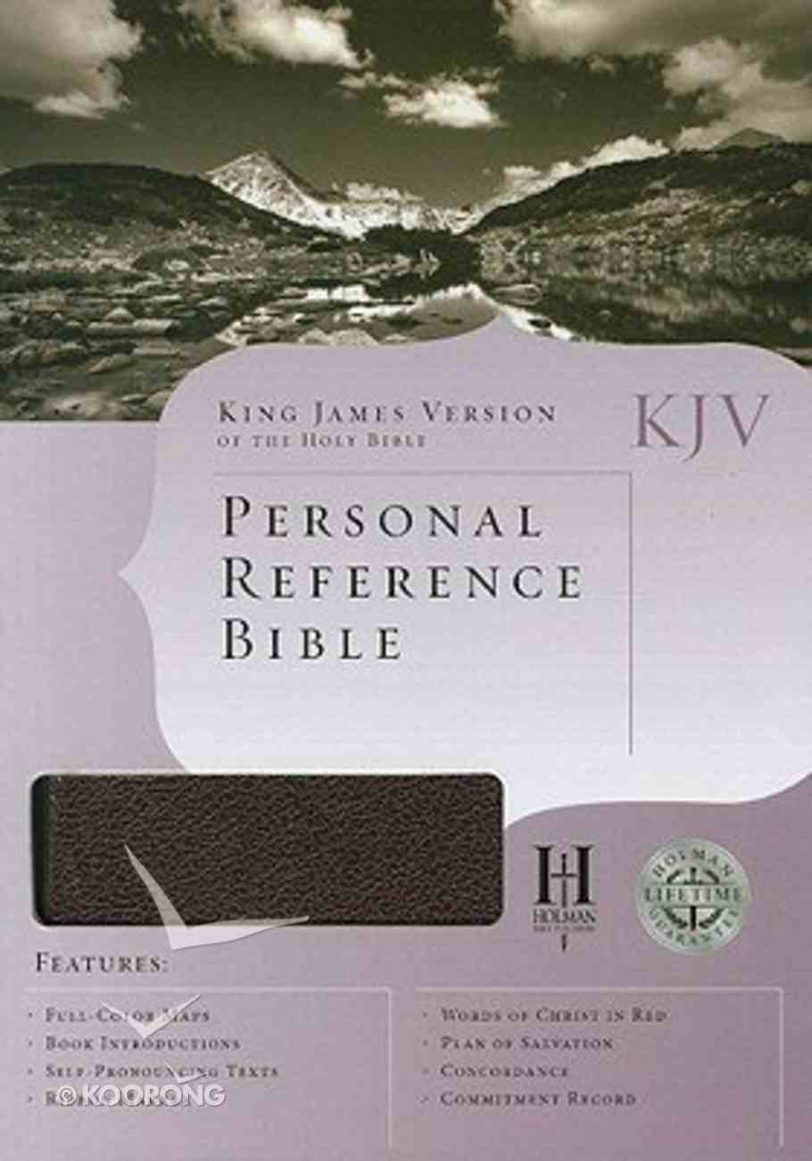 KJV Personal Reference Bible Burgundy Bonded Leather