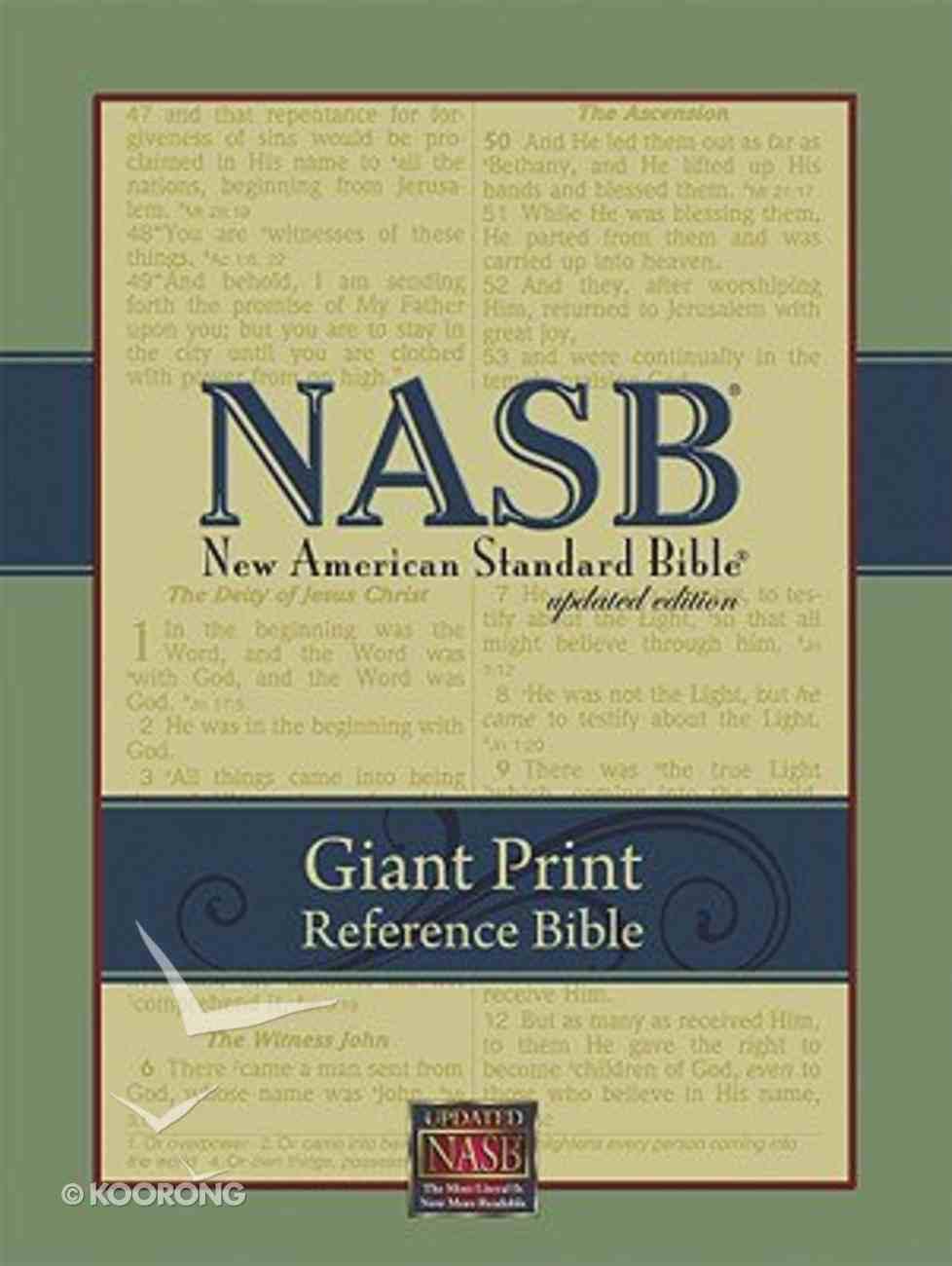 NASB Giant Print Reference Black Genuine Leather Genuine Leather