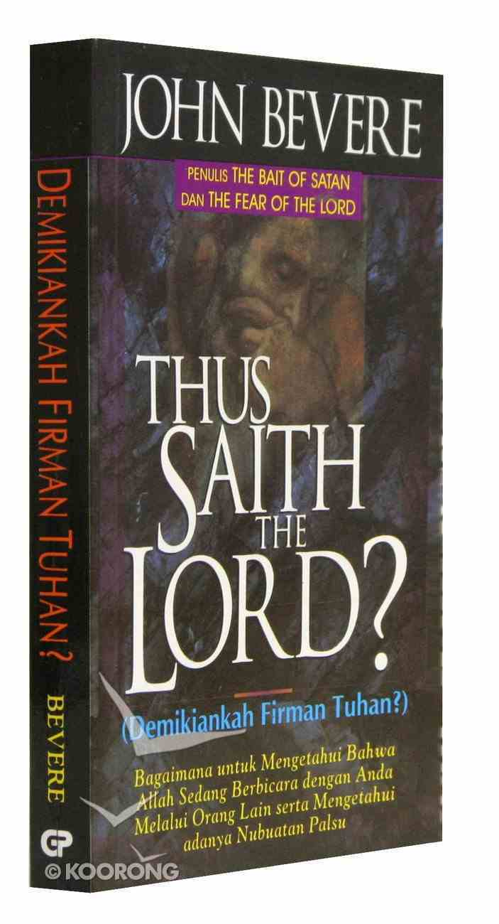 Thus Saith the Lord (Indonesian) Paperback