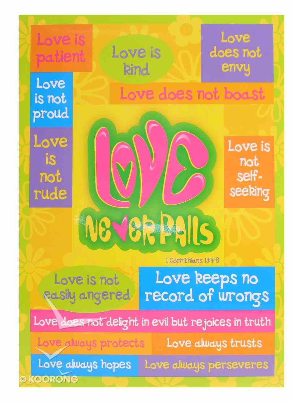 Poster Large: Love Never Fails Poster