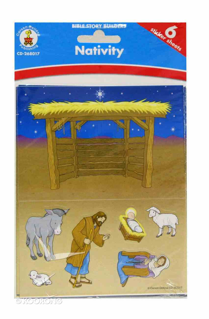 Bible Story Builders: Nativity Stickers Pack
