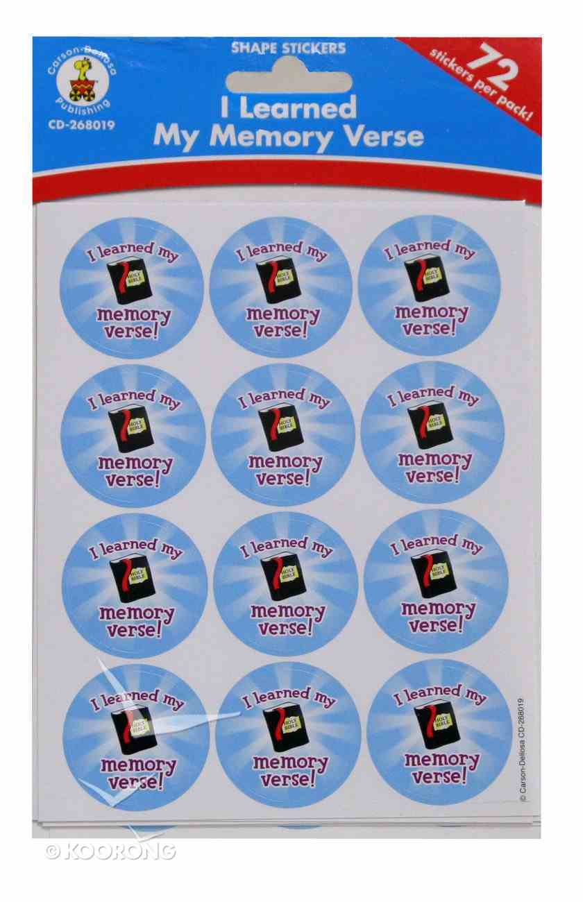 Shape Stickers: I Learned My Memory Verse! Pack
