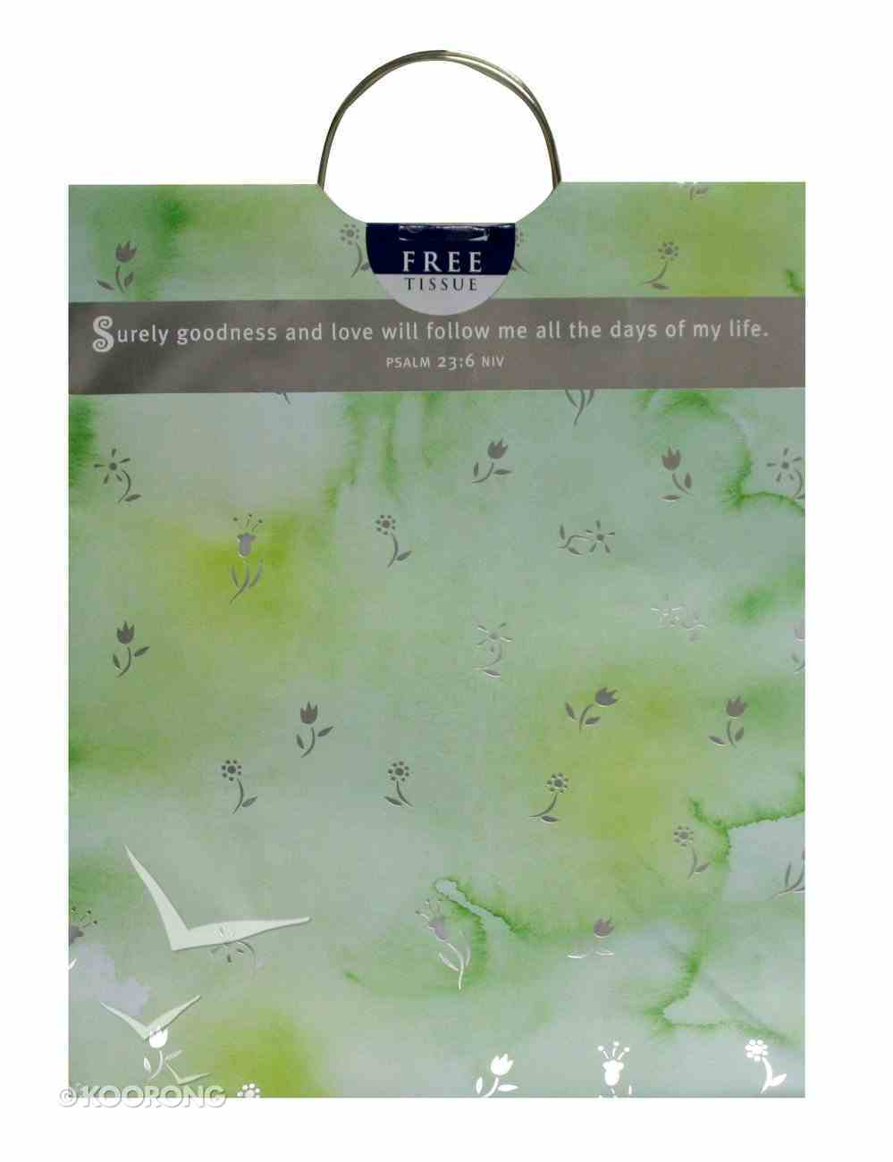 Gift Bag Large: Psalm 23 (Incl Tissue) Stationery
