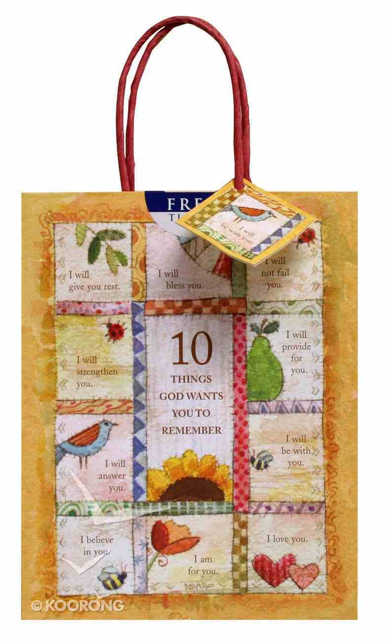 Gift Bag Medium: 10 Things (Incl Tissue) Stationery
