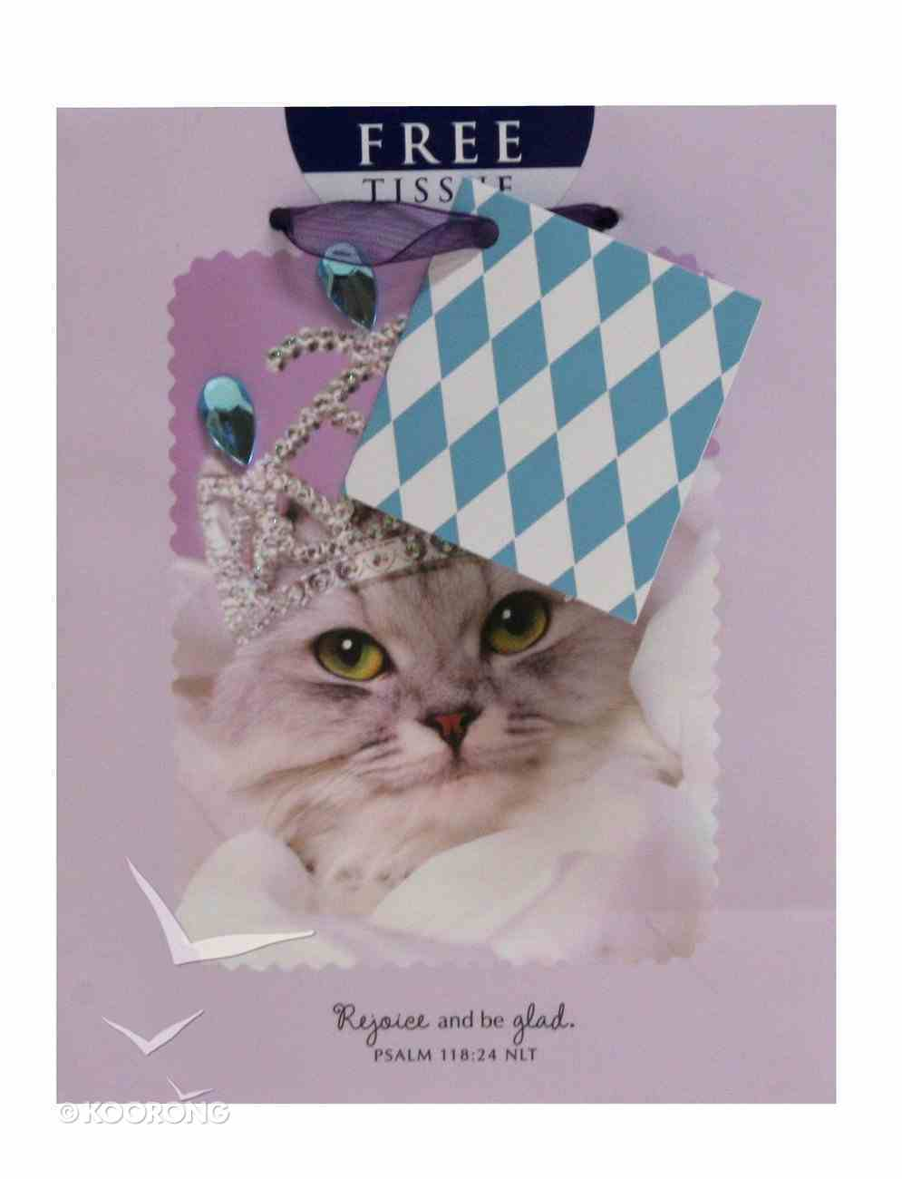 Gift Bag Small: Whiskers & Paws Psalm 118:24 (Incl Tissue) Stationery