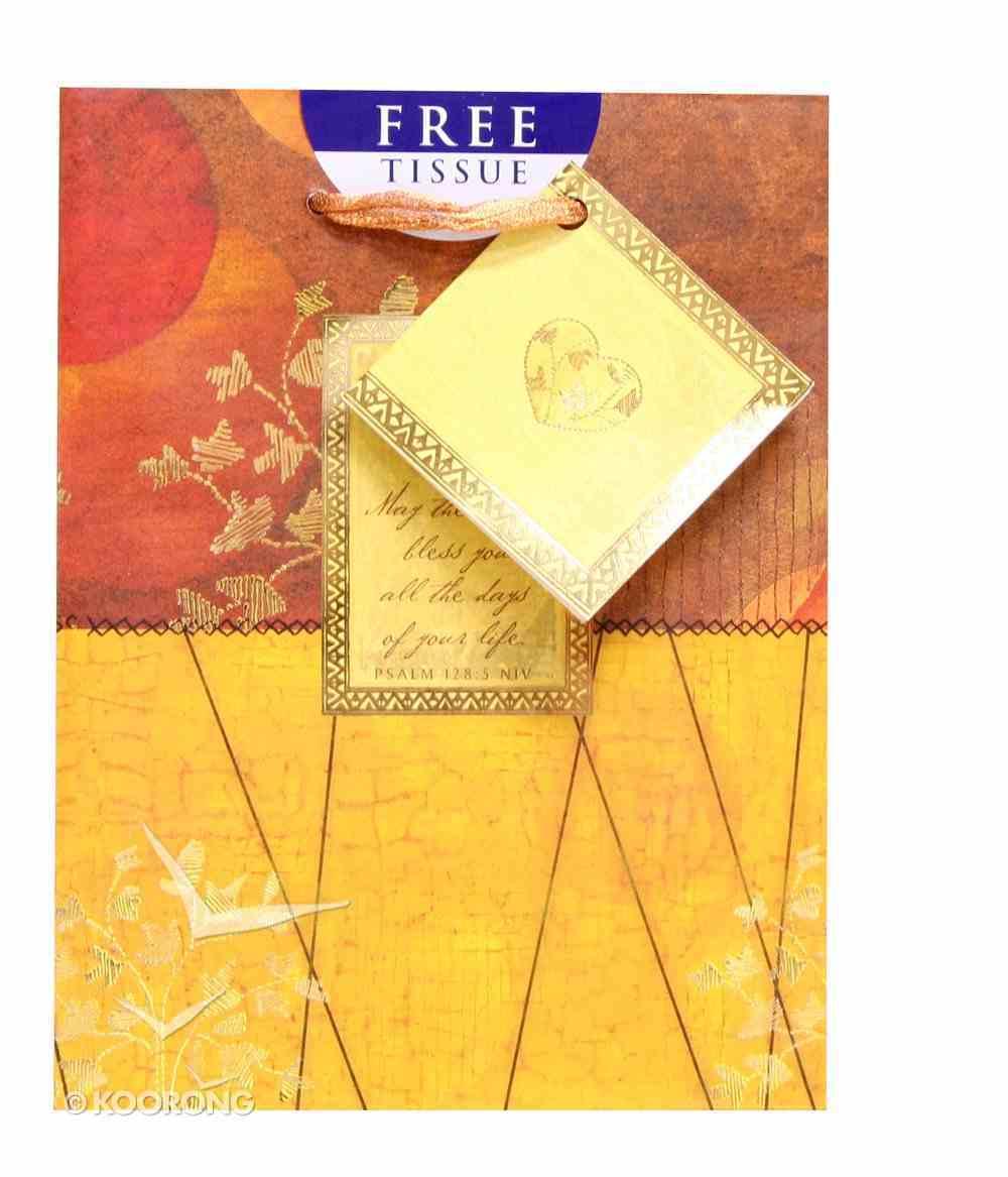 Gift Bag Small: Elegant Feminine Psalm 128:5 (Incl Tissue) Stationery