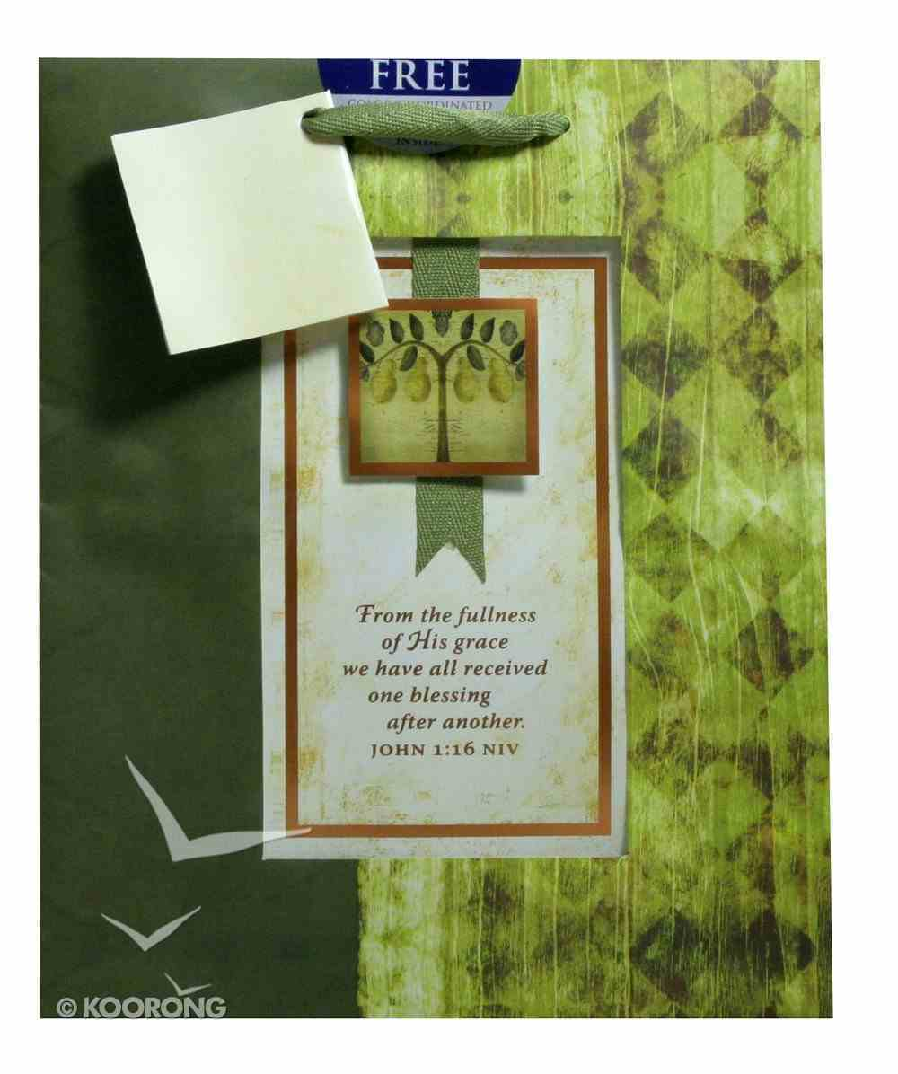 Gift Bag Medium: Tree of Blessing John 1:16 (Incl Tissue) Stationery