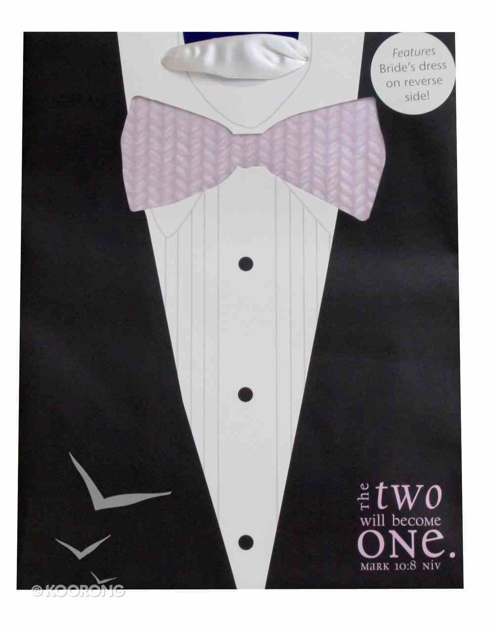 Gift Bag Medium: Two Will Become One Tux/Wedding Dress Stationery