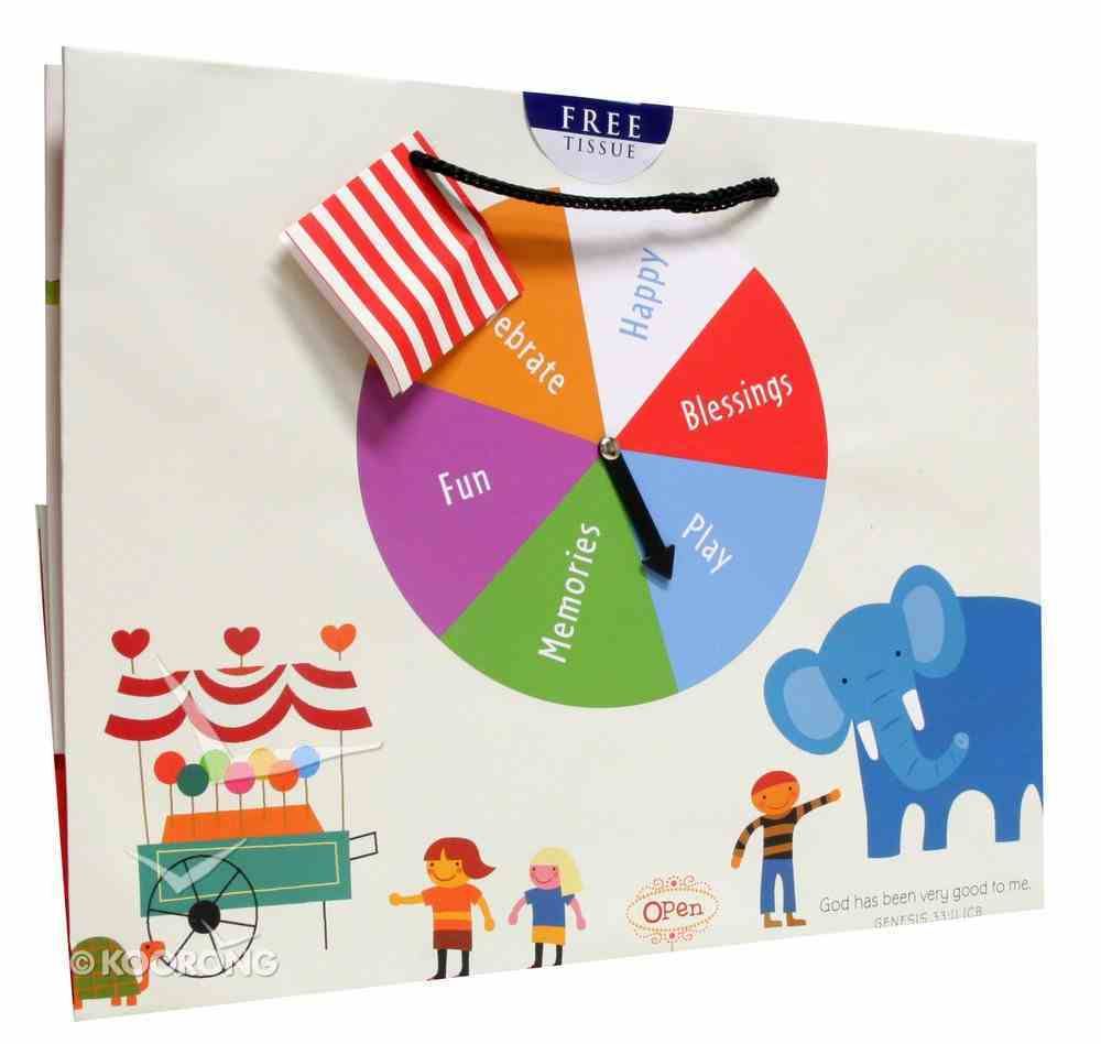 Gift Bag Large: Carnival Celebration With Spinner Attachment Stationery
