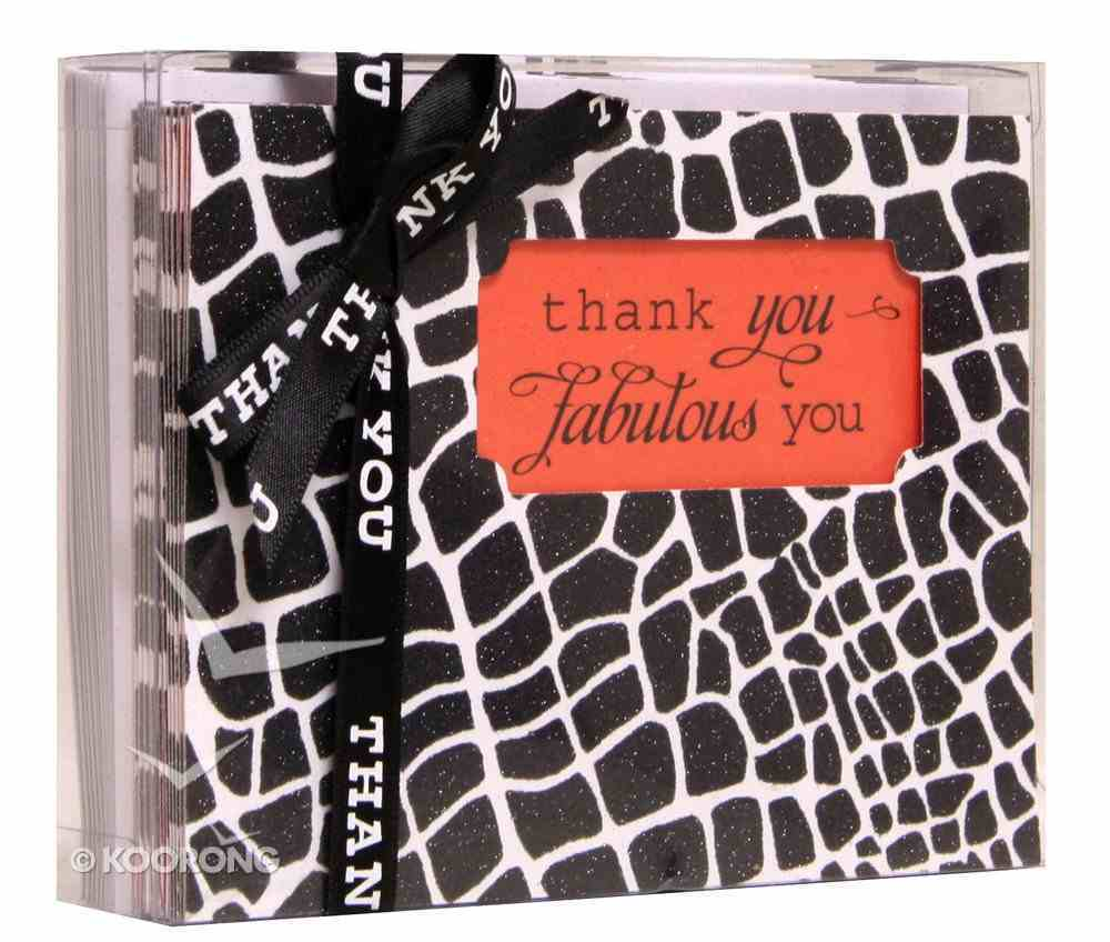 Sassy and Sophisticated: Note Cards, Thank You Fabulous You Cards