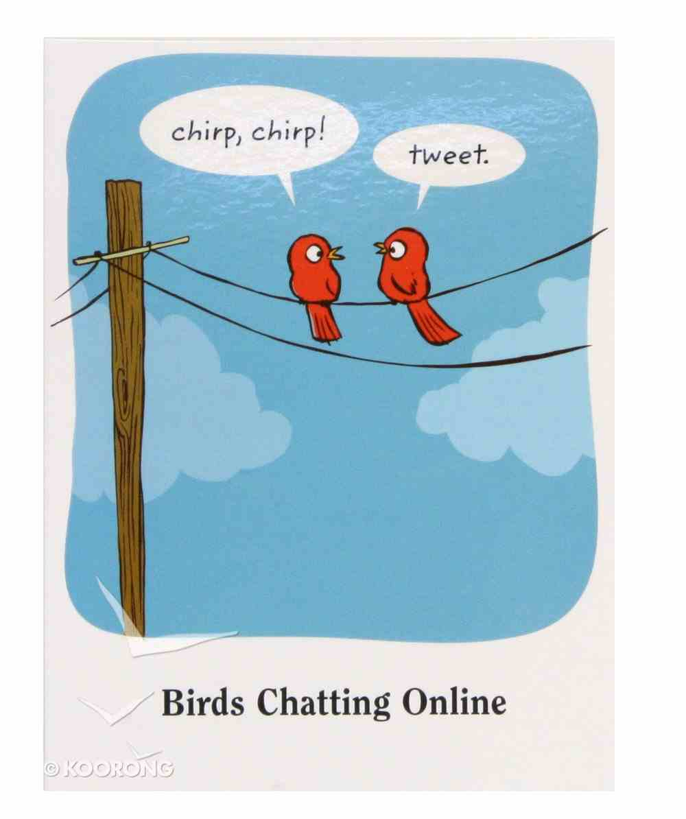 Everyday Notes: Humor, Birds Chatting Online Stationery