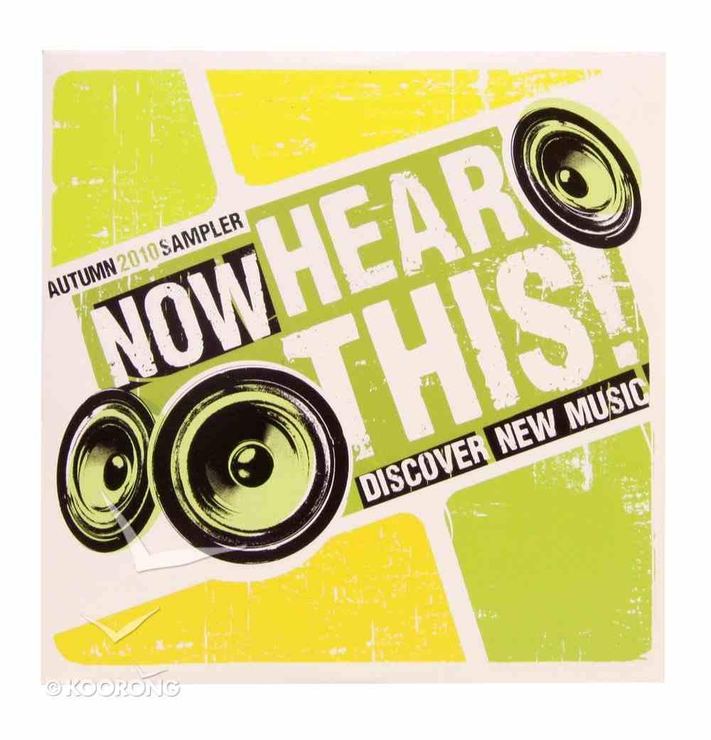Now Hear This: Autumn 2010 Sampler CD