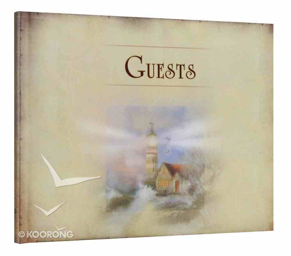 Guest Book: Hardcover Lighthouse Stationery