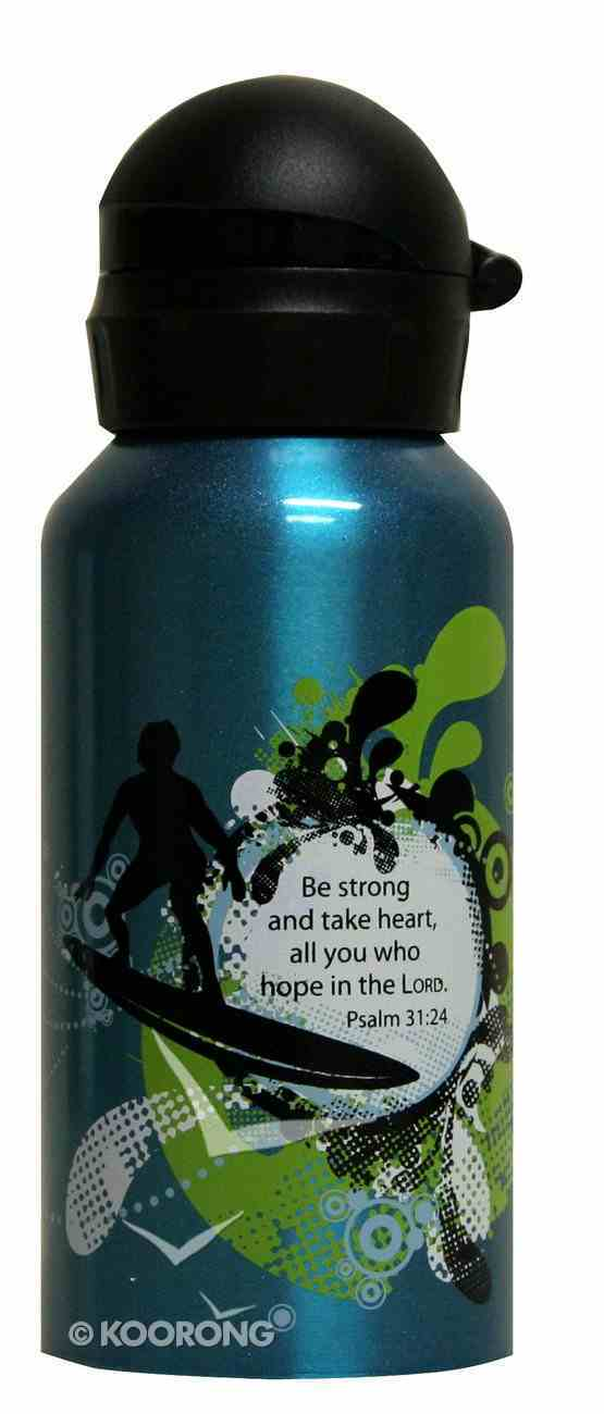 Water Bottle 400ml Stainless Steel: Be Strong and Take Heart Homeware