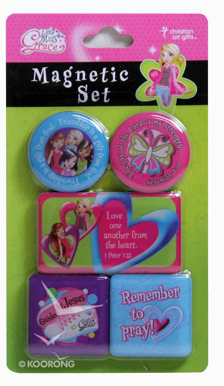Magnetic Set of 5 Magnets: Remember to Pray (Little Miss Grace) Novelty