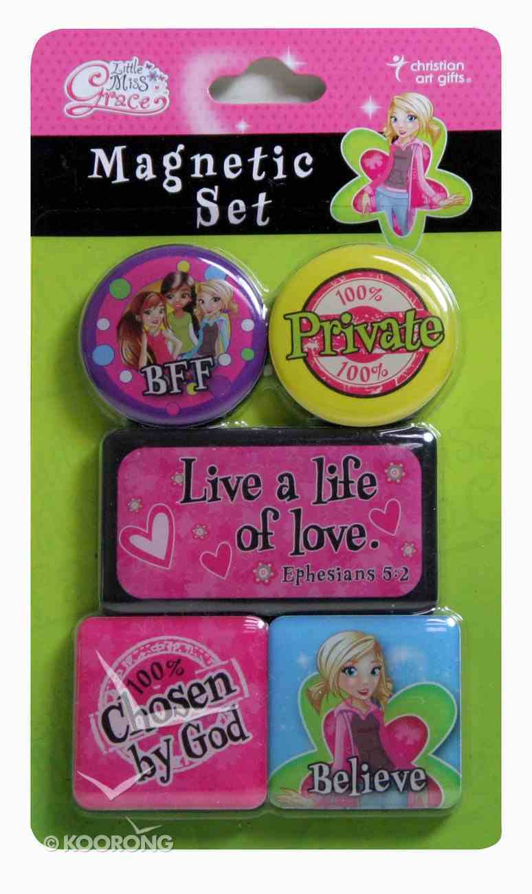 Magnetic Set of 5 Magnets: Live a Life of Love Novelty
