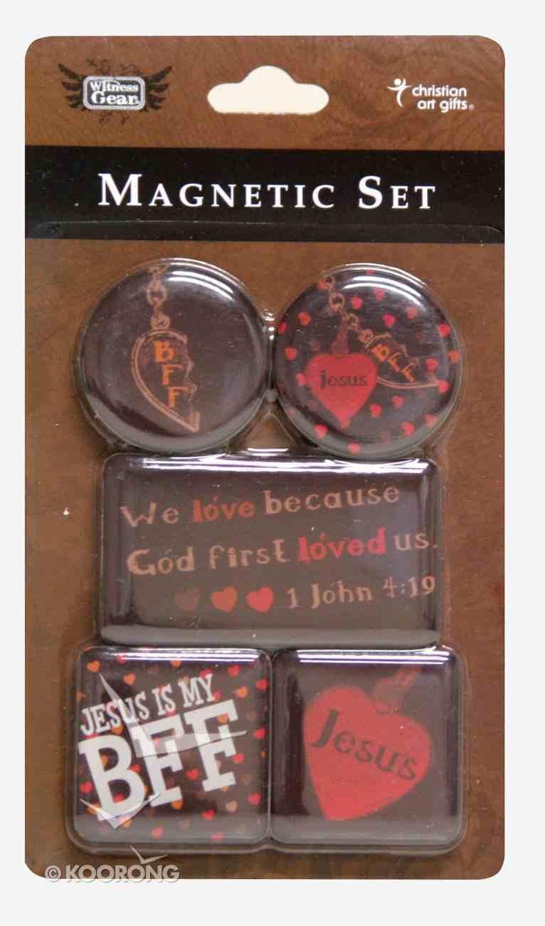 Magnetic Set of 5 Magnets: Bff Novelty