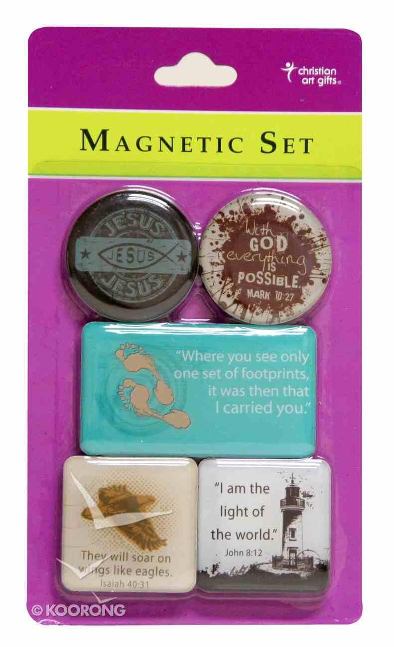 Magnetic Set of 5 Magnets: Jesus Novelty
