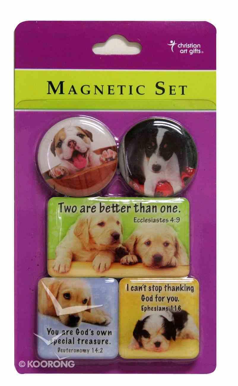 Magnetic Set of 5 Magnets: Dogs Novelty