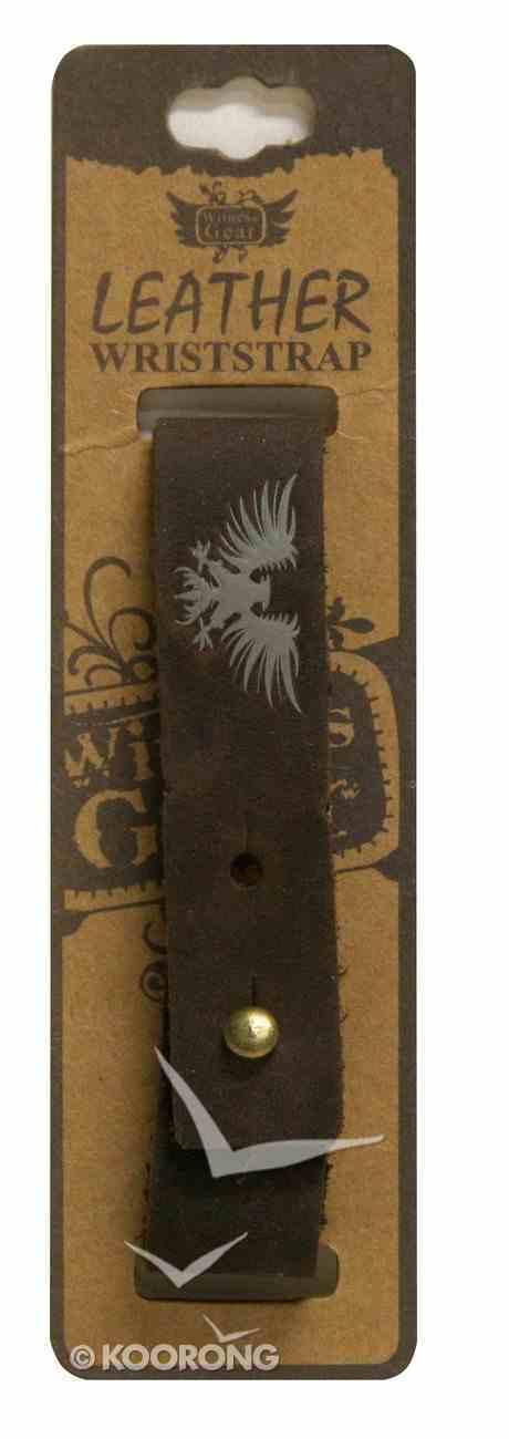 Witness Gear Leather Wriststrap: Isaiah 40:31 Jewellery
