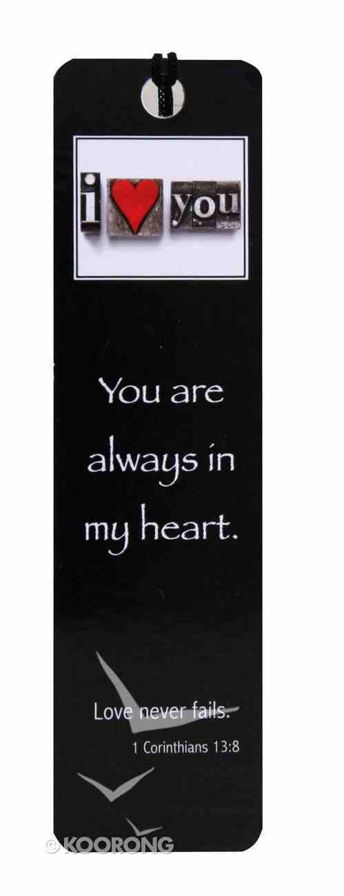 Bookmark Black & White: I Love You, 1 Cor 13:8 Stationery