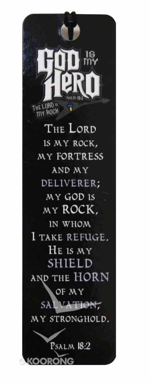 Bookmark: Witness Gear Black With White Writing (Psalm 18:2) Stationery