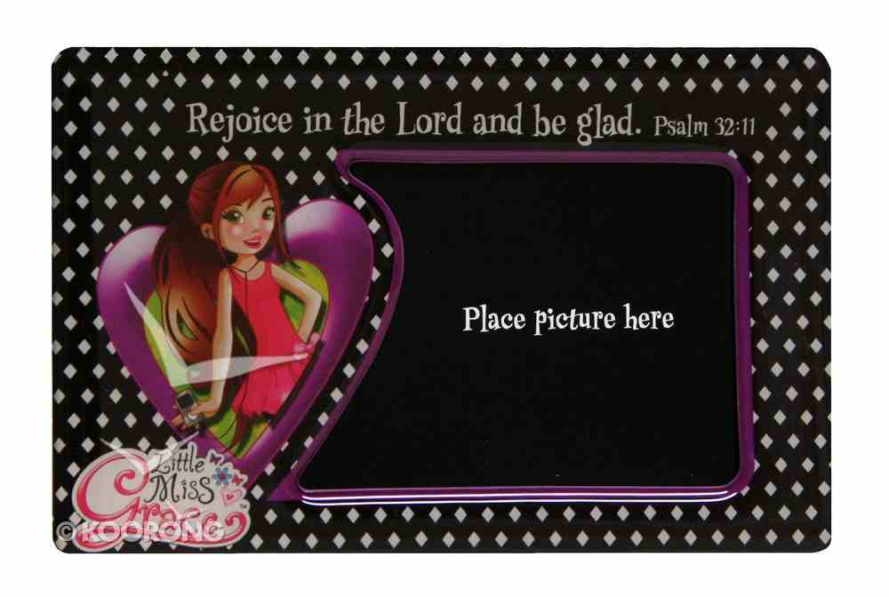 Little Miss Grace: Magnetic Photo Frame (Black With Dots) Novelty