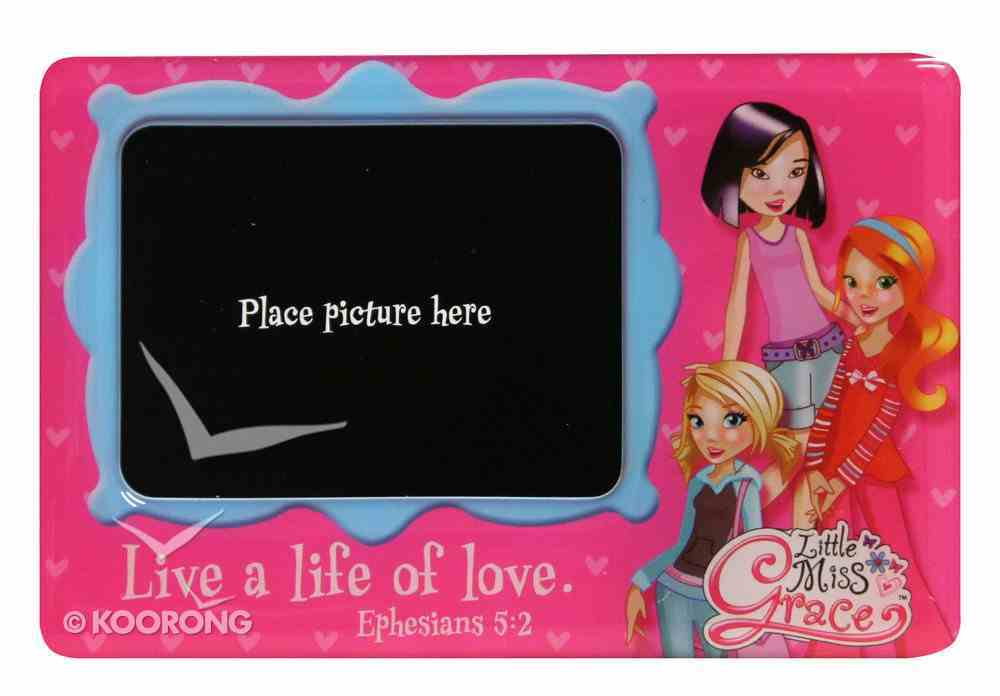 Little Miss Grace: Magnetic Photo Frame (Pink Hearts) Novelty