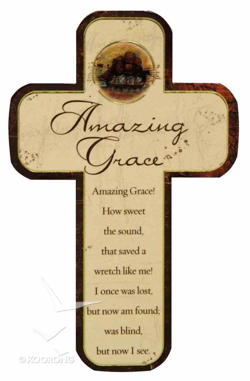Cross Magnet: Amazing Grace Novelty