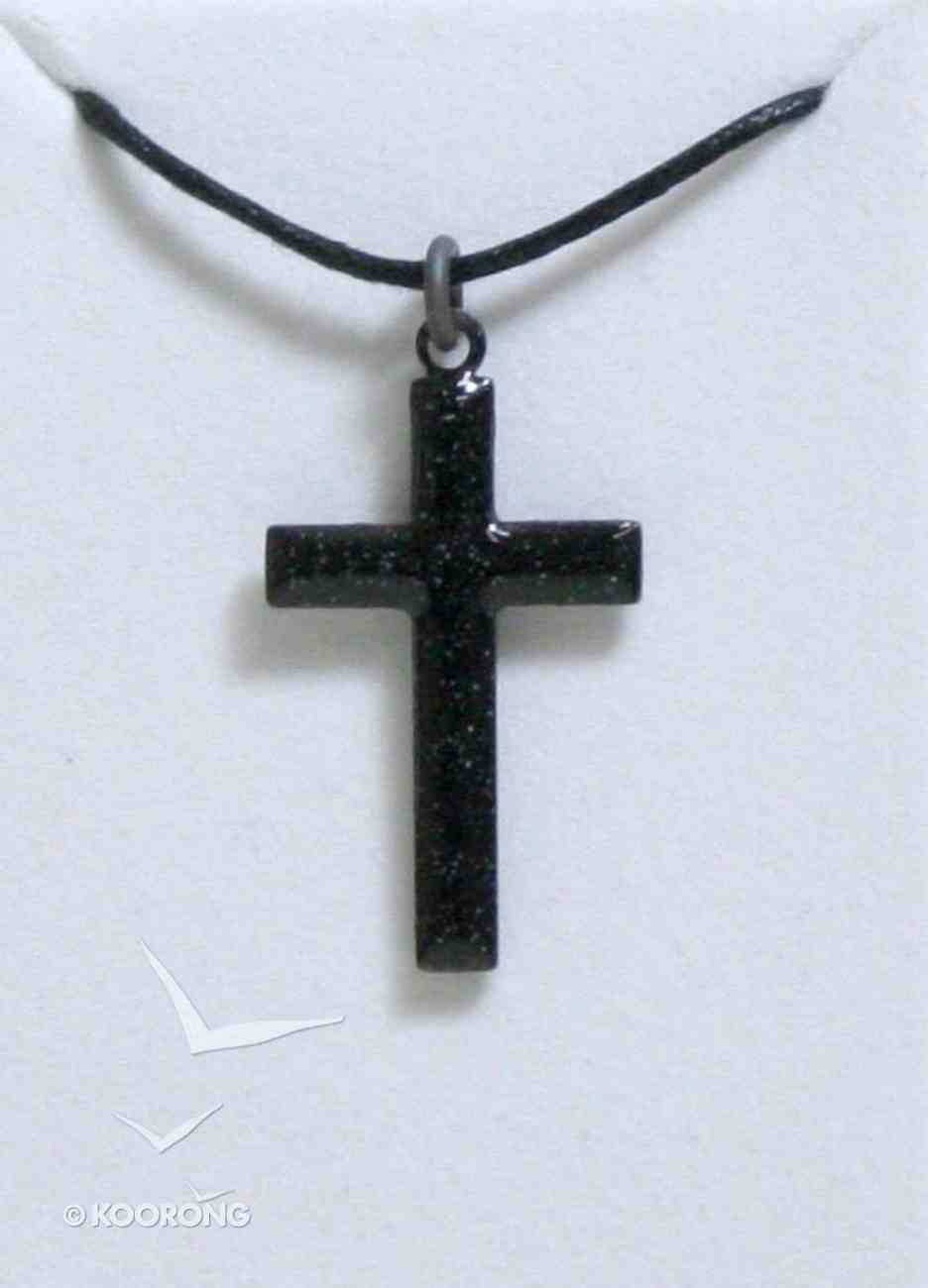 Pendant: Cross Black Enamel Jewellery