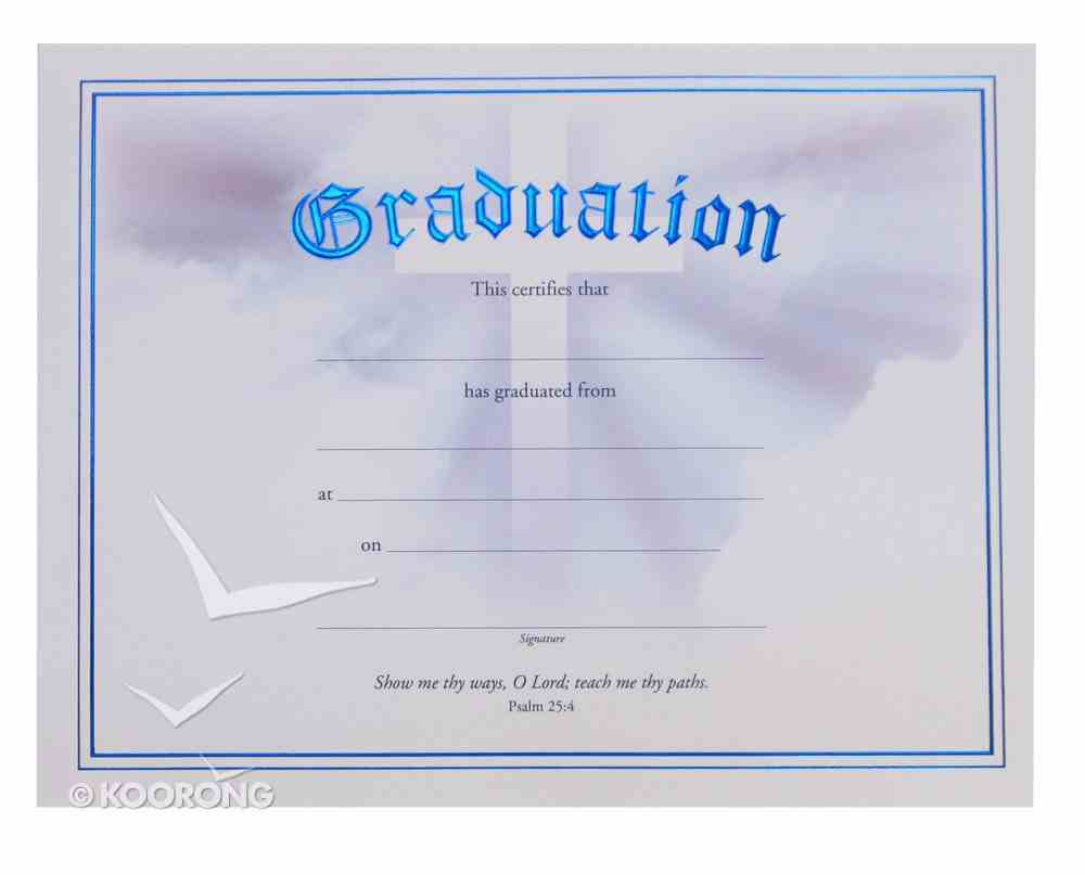Certificate: Graduation With Cross Stationery
