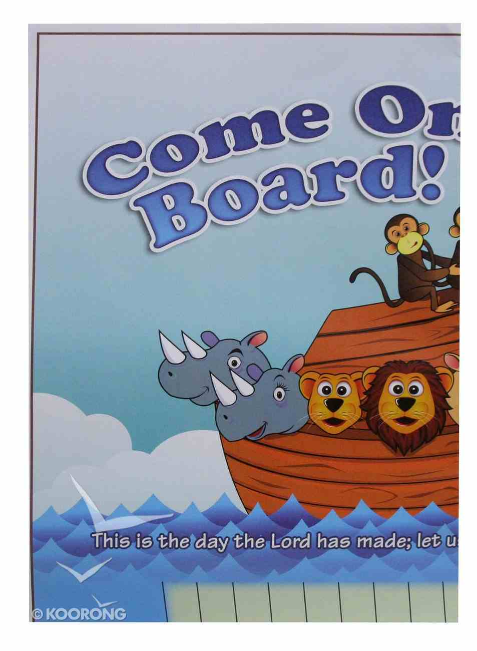 Wall Chart: Come on Board (Sunday School Attendance) Church Supplies