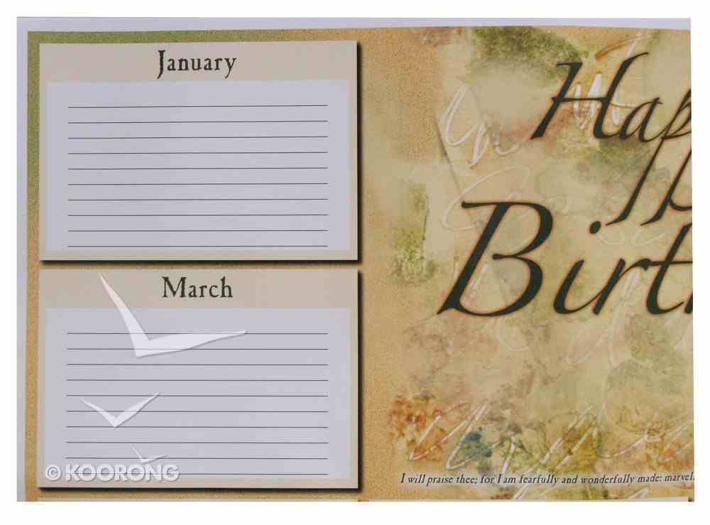 Wall Chart: Happy Birthday Adults (Remember Birthdays) Church Supplies