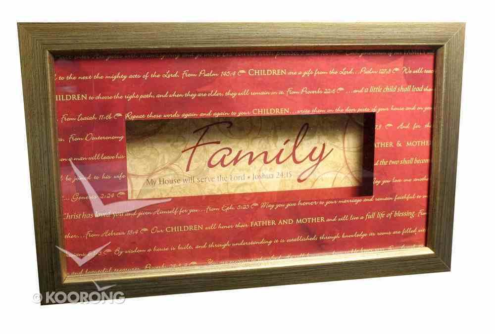 Framed Plaque: Family Joshua 24:15 Plaque