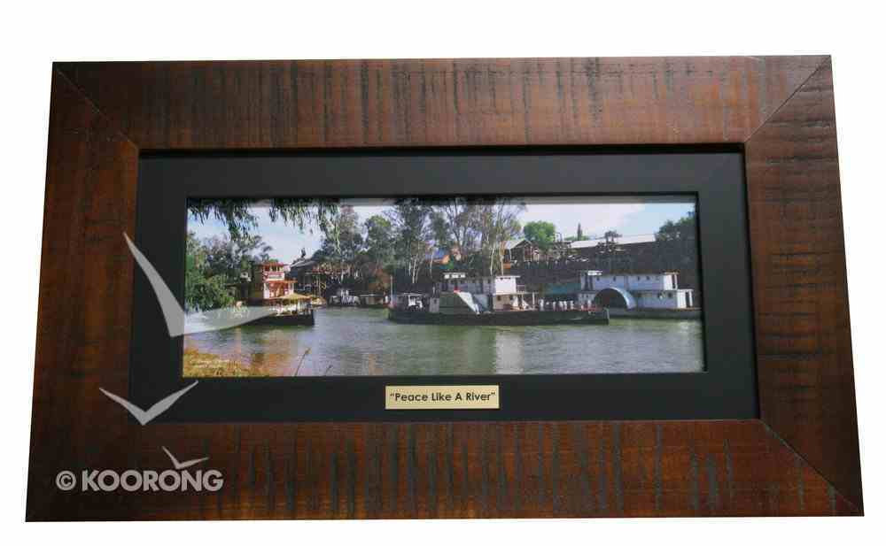 Clancy Haven Framed Photo: River Traffic Plaque