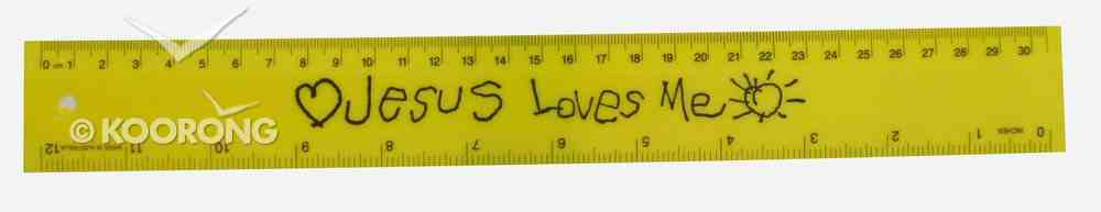 Ruler 30Cm/12 Inches: Jesus Loves Me Assorted Colours Stationery