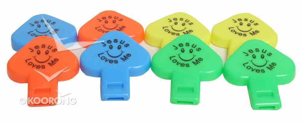 Voice Whistles Pack of 8: Jesus Loves Me, Assorted Colours Novelty