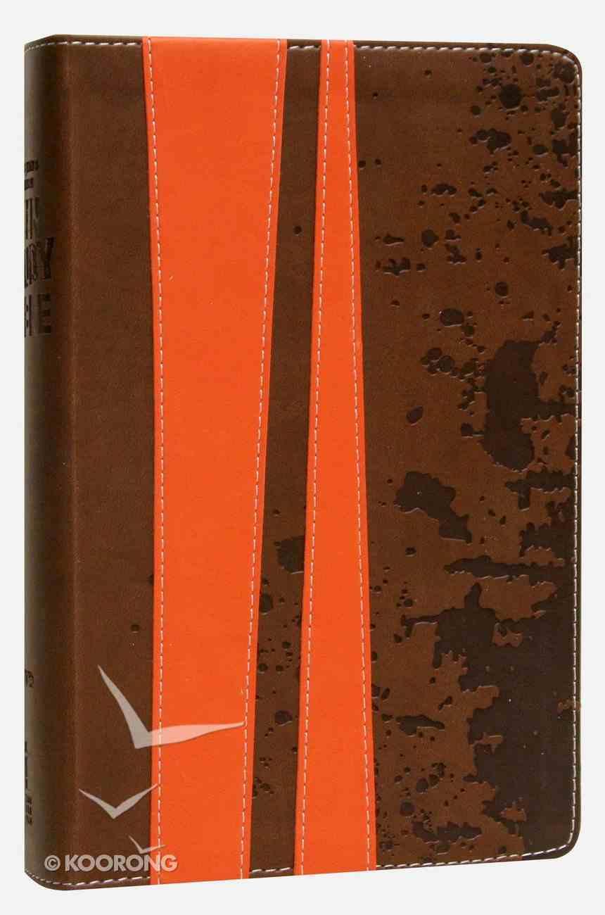 KJV Teen Study Burnt Orange/Fudge (Black Letter Edition) Premium Imitation Leather
