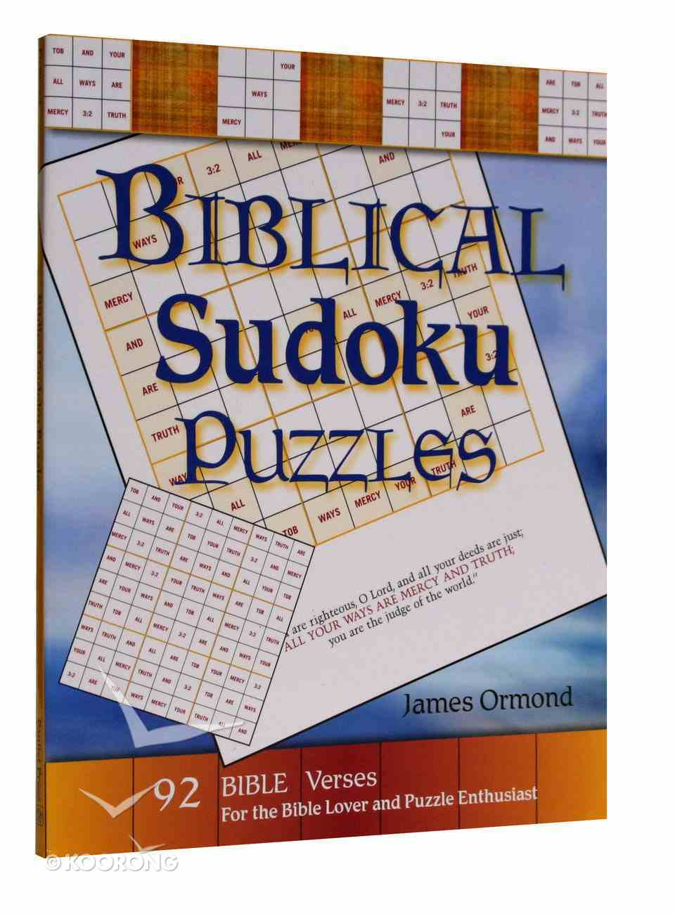 Biblical Sudoku Puzzles Paperback