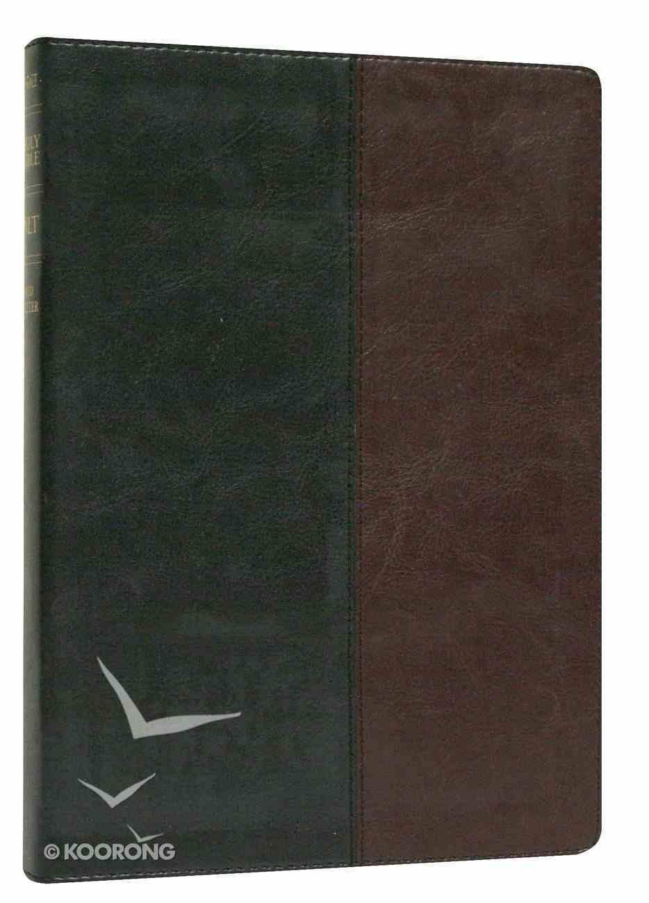 NLT Premium Slimline Reference Large Print Black/Burgundy Imitation Leather