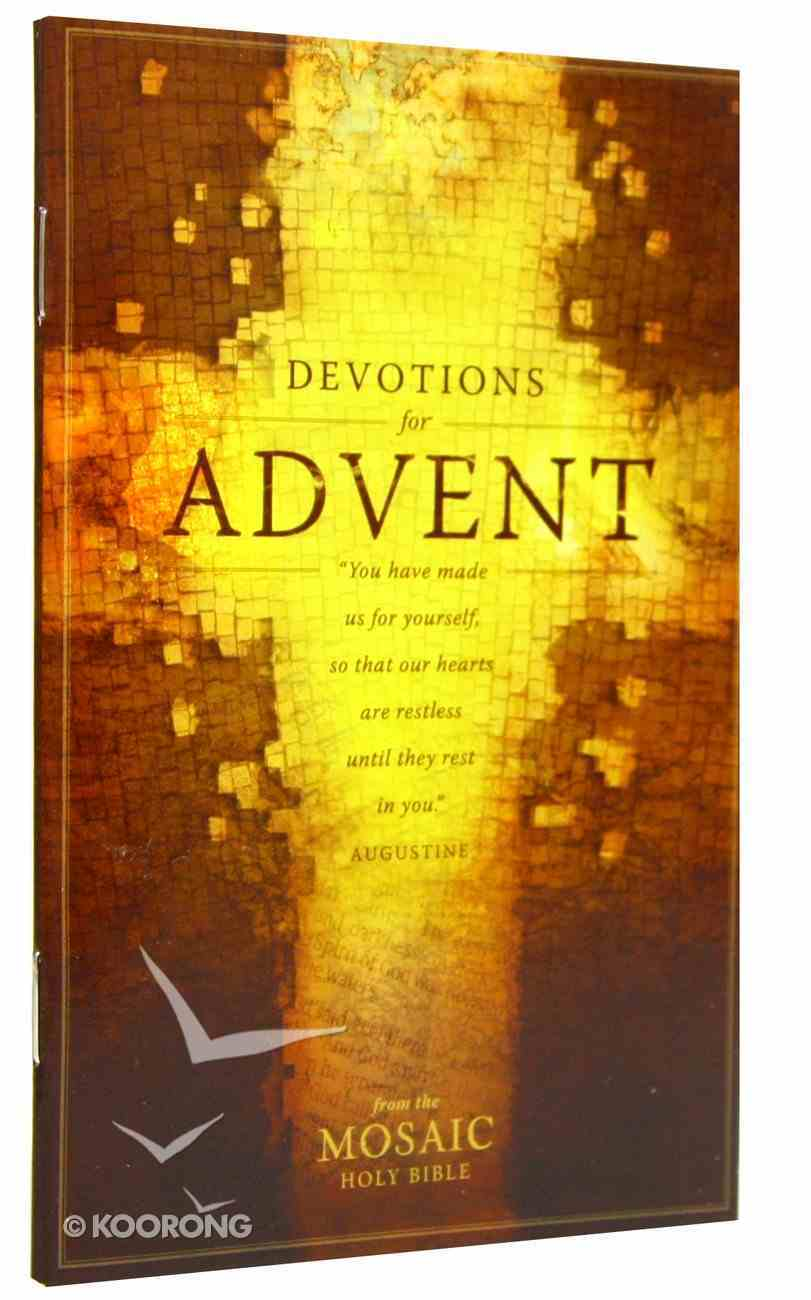 Devotions For Advent (From The Mosaic Holy Bible) Booklet