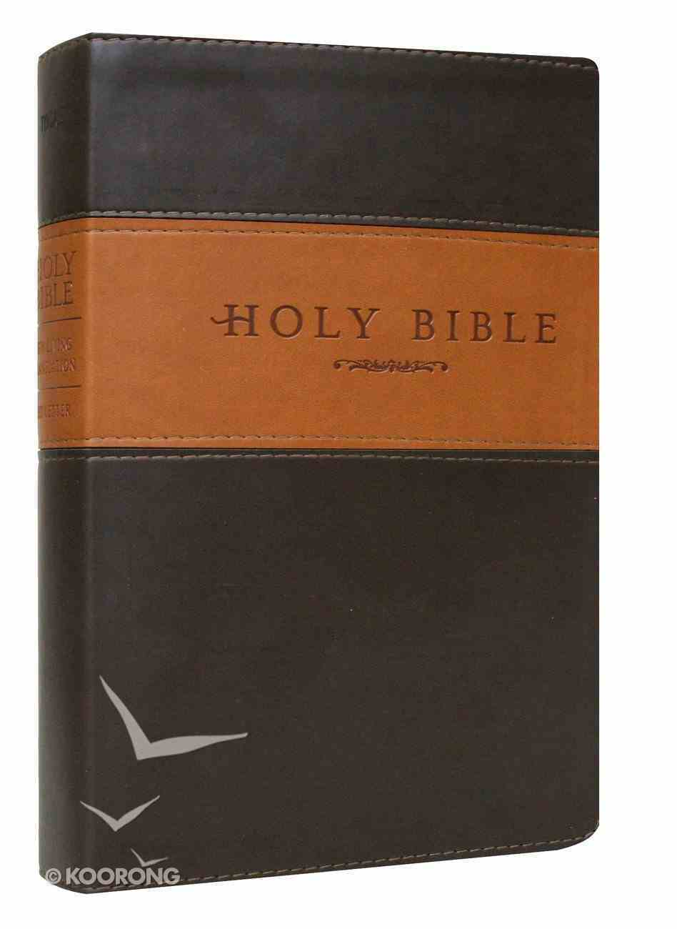 NLT Holy Bible Giant Print Brown/Tan (Red Letter Edition) Imitation Leather