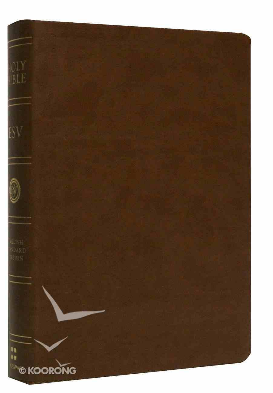 ESV Large Print Bible Brown Imitation Leather