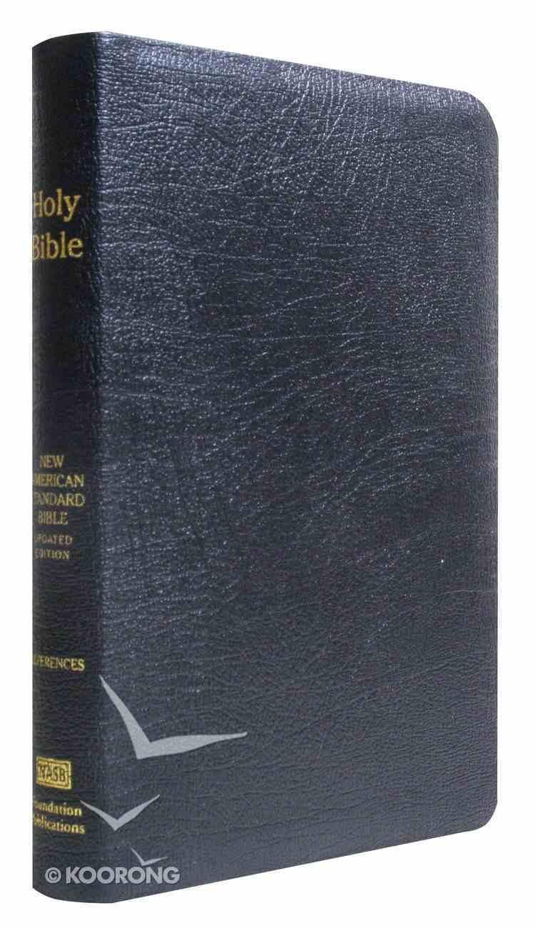 NASB Large Print Ultrathin Reference Bible Black Genuine Leather