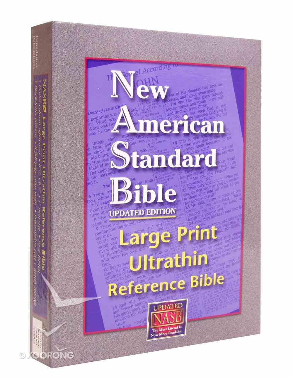 NASB Large Print Ultrathin Reference Bible Burgundy Bonded Leather